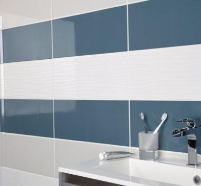 mural bleu blanc